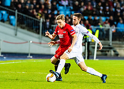27.02.2020, Linzer Stadion, Linz, AUT, UEFA EL, LASK vs AZ Alkmaar, Sechzehntelfinale, im Bild v.l. Jonas Svensson (AZ Alkmaar), Rene Renner (LASK) // v.l. Jonas Svensson (AZ Alkmaar), Rene Renner (LASK) during the UEFA Europa League round of the last 32, 2nd leg match between LASK and AZ Alkmaar at the Linzer Stadion in Linz, Austria on 2020/02/27. EXPA Pictures © 2020, PhotoCredit: EXPA/ Reinhard Eisenbauer