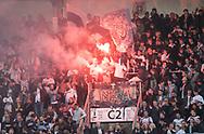 FODBOLD: AGF-fans under kampen i ALKA Superligaen mellem AGF og FC Helsingør den 13. april 2018 i Ceres Park. Foto: Claus Birch.