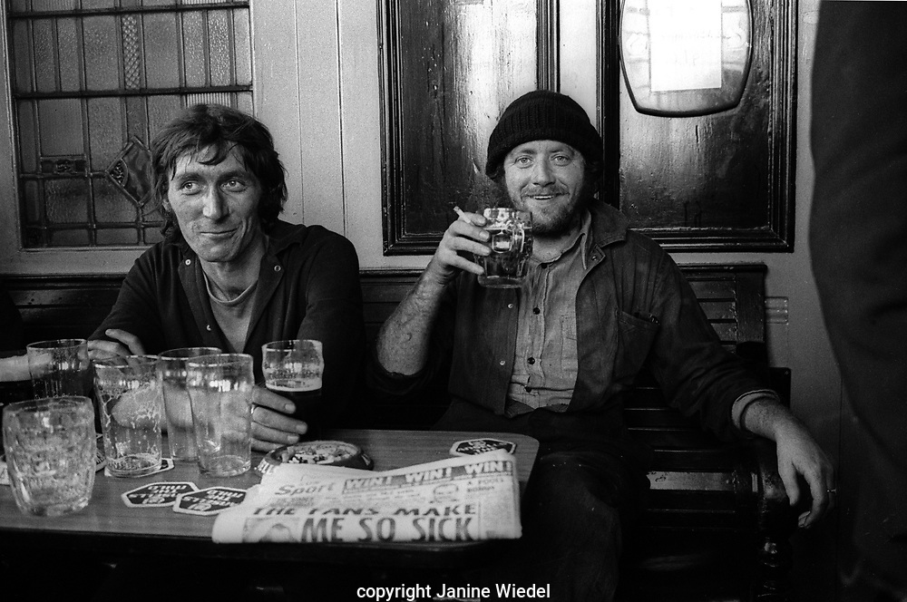 Workers in the local pub in Aston Birmingham relaxing after a hard shift in the drop forge next door.