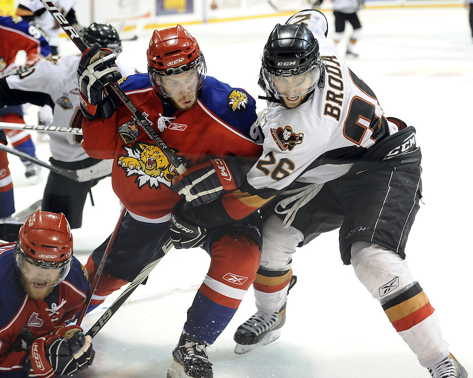Game 2 of the 2010 MasterCard Memorial Cup in Brandon, MB on Saturday May 15, 2010. Photo by Aaron Bell/CHL Images
