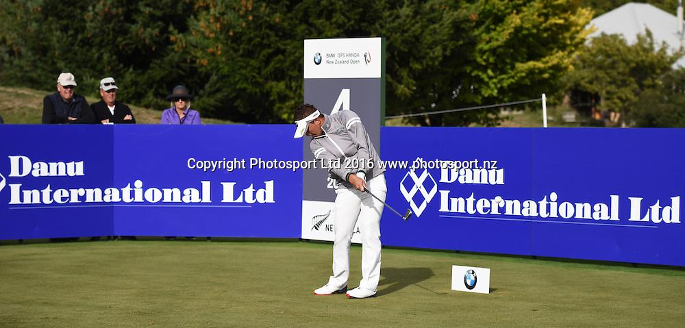 Japan's Daisuke Kataoka during Round 3 at The Hills during 2016 BMW ISPS Handa New Zealand Open. Saturday 12 March 2016. Arrowtown, New Zealand. Copyright photo: Andrew Cornaga / www.photosport.nz
