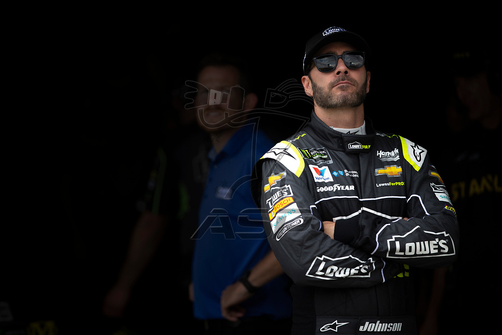 May 11, 2018 - Kansas City, Kansas, USA: Jimmie Johnson (48) gets ready to qualify for the KC Masterpiece 400 at Kansas Speedway in Kansas City, Kansas.