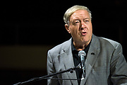 AUGUST 26, 2018  ATHENS, OHIO:<br /> Dr. Duane Nellis, President of Ohio University, greets new freshman students at the Convocation Center during the freshman convocation at Ohio University on August 26, 2018 in Athens, Ohio.