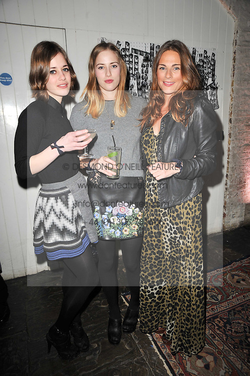 Left to right, sisters Shonagh Marshall, CATRIONA MARSHALL and MOIRA BRESLIN at a party to celebrate the launch of the CLub Monaco brand at Browns held at the Royal Academy of Art, Piccadilly, London on 19th February 2011.