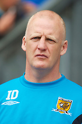 WIGAN, ENGLAND - Monday, May 3, 2010: Hull City's manager Iain Dowie before the Premiership match against Wigan Athletic at DW Stadium. (Photo by David Rawcliffe/Propaganda)