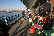 Istanbul. Galata Bridge across the Golden Horn (Halic?). Restaurants and cafe?s.