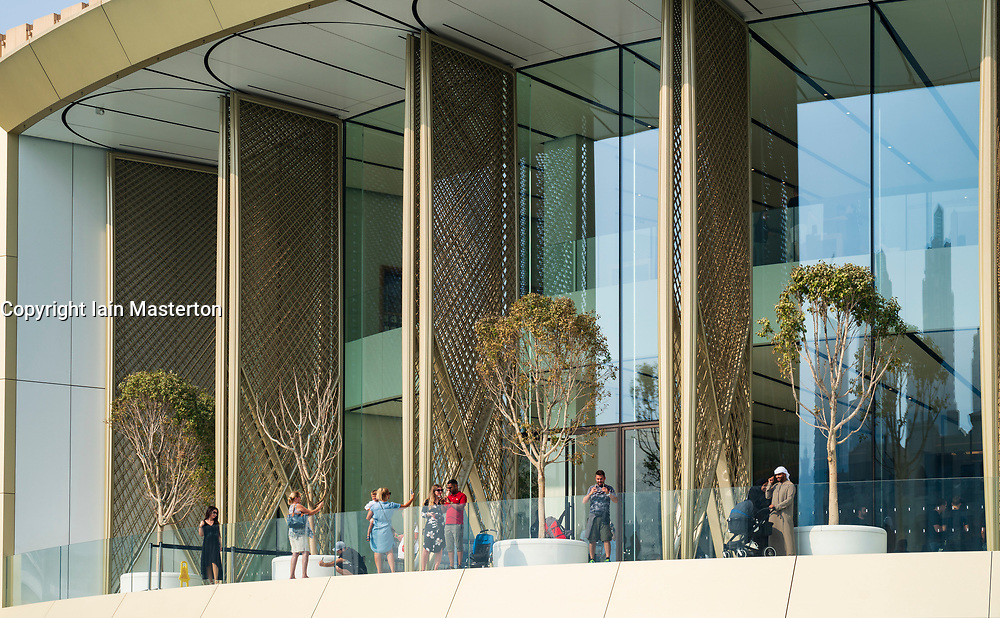 Exterior of new Apple Store at the Dubai Mall in Dubai, United Arab Emirates.