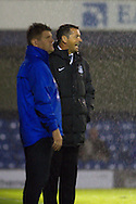 Picture by David Horn/Focus Images Ltd +44 7545 970036<br /> 13/09/2013<br /> Phil Brown Manager (right) of Southend United and Brian Laws Manager (left) of Scunthorpe United look on during the Sky Bet League 2 match at Roots Hall, Southend.