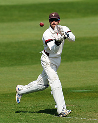 Somerset's Alex Barrow- Photo mandatory by-line: Harry Trump/JMP - Mobile: 07966 386802 - 14/04/15 - SPORT - CRICKET - LVCC County Championship - Day 3 - Somerset v Durham - The County Ground, Taunton, England.