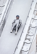 ALBERTVILLE, FRANCE - FEBRUARY 1992:  Georg Hackl of Germany starts a training run during the Men's Singles Luge event of the 1992 Winter Olympics at the La Plagne bobsled and luge track near Albertville, France.  (Photo by David Madison/Getty Images)