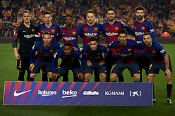 February 6, 2019 - Barcelona, Barcelona, Spain - Line up of Barcelona during the Spanish Cup (King's cup), first leg semi-final match between FC Barcelona and  Real Madrid at Camp Nou stadium on February 6, 2019 in Barcelona, Spain. (Credit Image: © Jose Breton/NurPhoto via ZUMA Press)