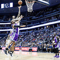06 March 2017: Denver Nuggets forward Wilson Chandler (21) goes for the layup past Sacramento Kings guard Arron Afflalo (40) during the Denver Nuggets 108-96 victory over the Sacramento Kings, at the Pepsi Center, Denver, Colorado, USA.