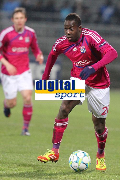 FOOTBALL - UEFA CHAMPIONS LEAGUE 2011/2012 - 1/8 FINAL - 1ST LEG - OLYMPIQUE LYONNAIS v APOEL FC - 14/02/2012 - PHOTO EDDY LEMAISTRE / DPPI - ALY CISSOKHO (OL)