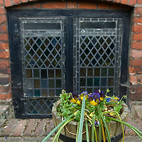 Ancient window in Minor Canon row, Rochester, Kent