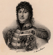 Joachim Murat (1767-1815) French soldier. Created king of Naples in 1808. He married Napoleon Bonaparte's sister Caroline. He contributed to victories at Marengo, Austerlitz, Jena and Eylau. After Napoleon's final defeat, he was court-martialled and shot.