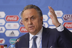 July 1, 2017 - Sain Petersburg, Russia - Russian Federation Deputy Prime Minister & Local Organising Committee (LOC) Chairman Vitaly Mutko during FIFA Confederations Cup Russia 2017 closing press conference at Saint Petersburg Stadium on July 1, 2017 in Saint Petersburg, Russia. (Credit Image: © Mike Kireev/NurPhoto via ZUMA Press)