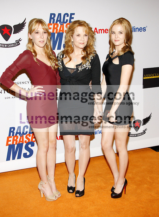 Lea Thompson, Madelyn Deutch and Zoey Deutch at the 19th Annual Race To Erase MS held at the Hyatt Regency Century Plaza in Century City, USA on May 18, 2012.