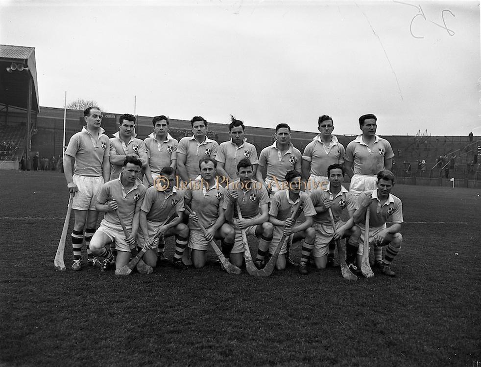 16/03/1958<br /> 03/16/1958<br /> 16 March 1958<br /> National Hurling League: Dublin v Cork at Croke Park, Dublin. Dublin team.