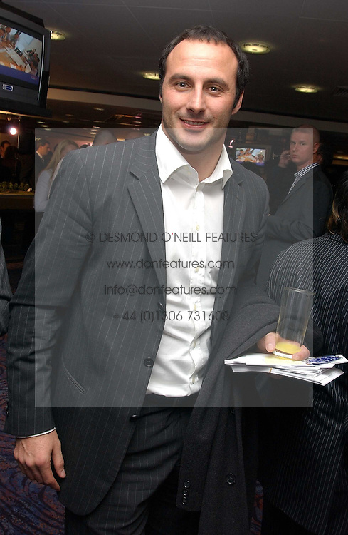 Footballer RAMON VEGA at a sales event for the exclusive Chelsea Bridge Wharf in aid of CLIC Sargeant cancer charity held at Stamford Bridge football stadium, Chelsea, London on 7th February 2006.<br />