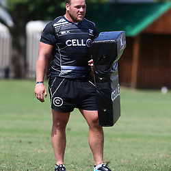 DURBAN, SOUTH AFRICA, Friday 15, January 2016 - Kyle Cooper during The Cell C Sharks Pre Season training Friday 145h January 2016,for the 2016 Super Rugby Season at Growthpoint Kings Park in Durban, South Africa. (Photo by Steve Haag)<br /> images for social media must have consent from Steve Haag