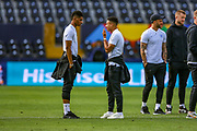 England forward Jesse Lingard (Manchester United) and England forward Marcus Rashford (Manchester United) during the England walk around the pitch ahead of the Nations League Semi-Final against Holland at Estadio D. Afonso Henriques, Guimaraes, Portugal on 5 June 2019.