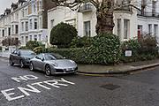 London, England, UK, February 4 2018 - Sportcar parked in the Kensington area.