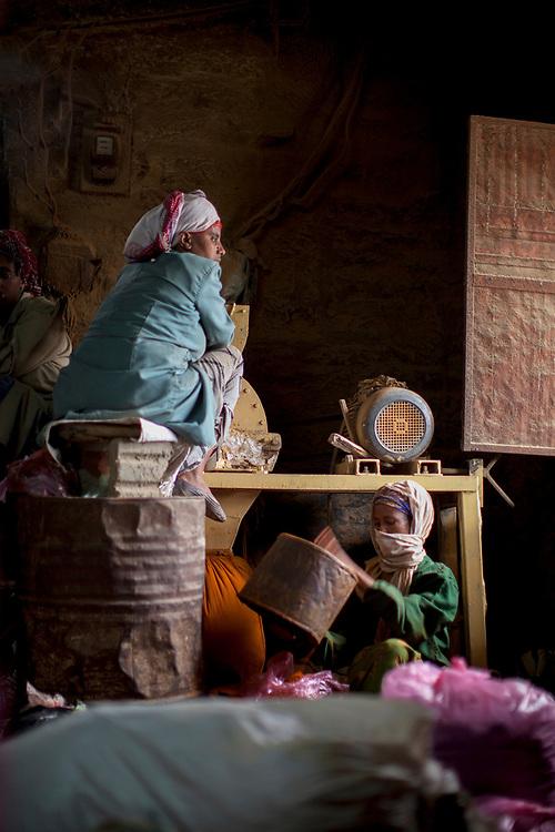 Women at a Berbera Mill in Mekelle, Ethiopia