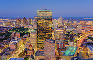 View from Skywalk Observatory, Prudential Center, Boston, MA
