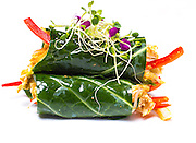 Banh mi lettuce wrap at Plant Food + Wine