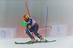 BALL Lindsay Guide: BARRAS Diane competing in the Alpine Skiing Super Combined Slalom at the 2014 Sochi Winter Paralympic Games, Russia