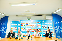 Iztok Klancnik, Miha Verdnik, Janez Slivnik, Klemen Bergant and Peter Pen during press conference of Slovenian Alpine Ski team and coaching team for new season 2019/20, on May 6th, 2019, in SZS, Ljubljana, Slovenia. Photo by Vid Ponikvar / Sportida