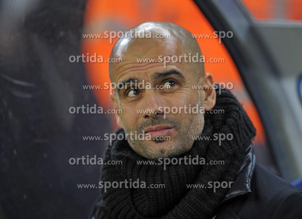Football: Germany, DFB-Pokal, Hamburger SV - FC Bayern Muenchen, Muenchen, 12.02.2014<br /> coach Josep Pep Guardiola (Bayern)<br /> &Acirc;&copy;&Acirc;&nbsp;pixathlon