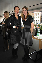 Left to right, SAFFRON ALDRIDGE and TOR GOODER at a lunch to celebrate the launch of the Top Tips for Girls website (toptips.com) founded by Kate Reardon held at Armani, Brompton Road, London on 5th March 2007.<br />
