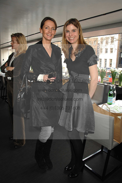 Left to right, SAFFRON ALDRIDGE and TOR GOODER at a lunch to celebrate the launch of the Top Tips for Girls website (toptips.com) founded by Kate Reardon held at Armani, Brompton Road, London on 5th March 2007.<br /><br />NON EXCLUSIVE - WORLD RIGHTS