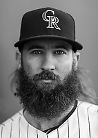 Colorado Rockies Charlie Blackmon poses for a portrait on 2.28.17<br /> ( Photo/Tom DiPace)