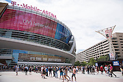 LAS VEGAS, NV - JULY 9:  Fans line up before doors open for UFC 200 at T-Mobile Arena on July 9, 2016 in Las Vegas, Nevada. (Photo by Cooper Neill/Zuffa LLC/Zuffa LLC via Getty Images) *** Local Caption ***