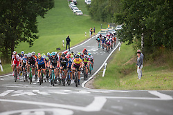 Lisa Brennauer (GER) of CANYON//SRAM Racing rides at the front of the main group up on the  Hankaberg in the third lap of Stage 2 of the Lotto Thuringen Ladies Tour - a 102.9 km road race, starting and finishing in Dortendorf on July 14, 2017, in Thuringen, Germany. (Photo by Balint Hamvas/Velofocus.com)