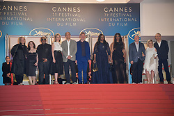 Vanessa Tovell, Lisa Erspamer, Jonathan Chinn, Kevin Macdonald, Pat Houston, Jonathan Chinn, Nicole David and Sam Rice-Edwards attending the premiere of the film Whitney during the 71st Cannes Film Festival in Cannes, France on May 16, 2018. Photo by Julien Zannoni/APS-Medias/ABACAPRESS.COM