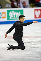 KELOWNA, BC - OCTOBER 25:  Canadian figure skater, Nam Nguyen competes in the men's short program at Skate Canada International held at Prospera Place on October 25, 2019 in Kelowna, Canada. (Photo by Marissa Baecker/Shoot the Breeze)