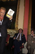 Sting and Alexander Waugh, Literary Review Bad Sex in Fiction Award. In and Out Club, St. James, Sq. 3 December 2003. © Copyright Photograph by Dafydd Jones 66 Stockwell Park Rd. London SW9 0DA Tel 020 7733 0108 www.dafjones.com