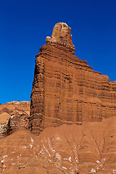 Chimney Rock in the morning, Capitol Reef National Park, Utah, United States of America