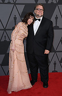 12.11.2017; Hollywood, USA: SALLY HAWKINS AND GUILLERMO DEL TORO<br /> attends the Academy&rsquo;s 2017 Annual Governors Awards in The Ray Dolby Ballroom at Hollywood &amp; Highland Center, Hollywood<br /> Mandatory Photo Credit: &copy;AMPAS/Newspix International<br /> <br /> IMMEDIATE CONFIRMATION OF USAGE REQUIRED:<br /> Newspix International, 31 Chinnery Hill, Bishop's Stortford, ENGLAND CM23 3PS<br /> Tel:+441279 324672  ; Fax: +441279656877<br /> Mobile:  07775681153<br /> e-mail: info@newspixinternational.co.uk<br /> Usage Implies Acceptance of Our Terms &amp; Conditions<br /> Please refer to usage terms. All Fees Payable To Newspix International