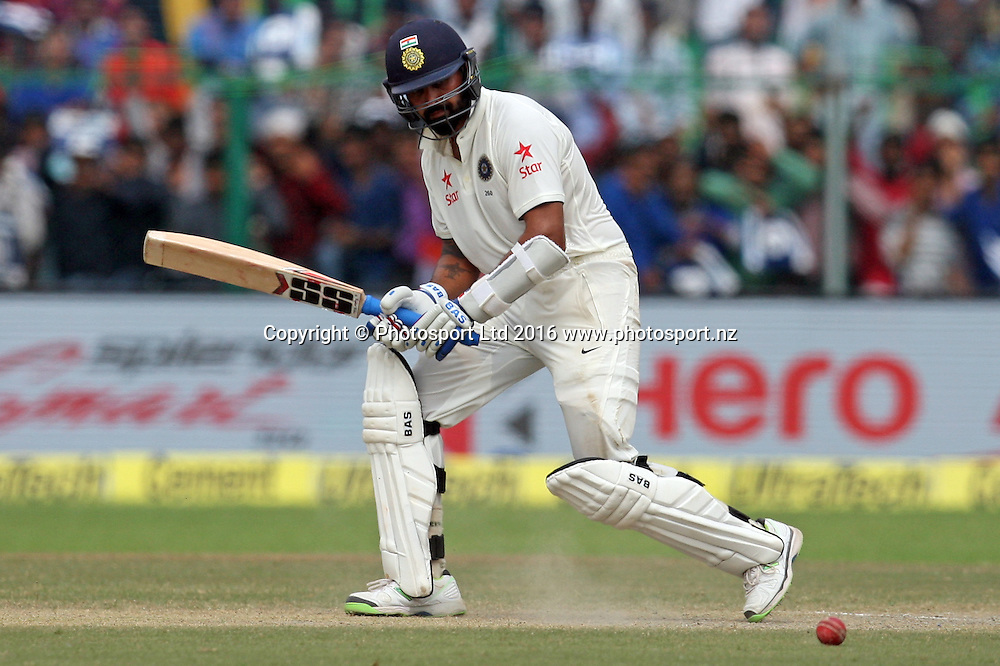 Murali Vijay of India during the 3rd day of the first test match India against New Zealand in Kanpur, India, Saturday, Sept. 24, 2016.