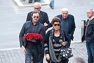 2013/05/07 Roma, funerali di Giulio Andreotti. Nella foto Anna Fendi, Paolo Venturoni..Rome, funerals of Giulio Andreotti. In the picture Anna Fendi, Paolo Venturoni - © PIERPAOLO SCAVUZZO