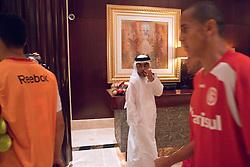 Equipe do S.C. Internacional chega no hotel apos treino no Sultan Bin Zayed, em Abu Dhabi. O S.C. Internacional participa de 8 a 18 de dezembro do Mundial de Clubes da FIFA, em Abu Dhabi. FOTO: Jefferson Bernardes/Preview.com