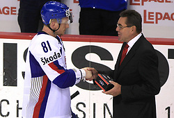 Marcel Hossa of Slovakia best player at ice-hockey game Slovenia vs Slovakia at Relegation  Round (group G) of IIHF WC 2008 in Halifax, on May 09, 2008 in Metro Center, Halifax, Nova Scotia, Canada. Slovakia won 5:1. (Photo by Vid Ponikvar / Sportal Images)