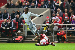 Paul Pogba of Manchester United is tackled by Jamie Paterson of Bristol City - Mandatory by-line: Dougie Allward/JMP - 20/12/2017 - FOOTBALL - Ashton Gate Stadium - Bristol, England - Bristol City v Manchester United - Carabao Cup Quarter Final