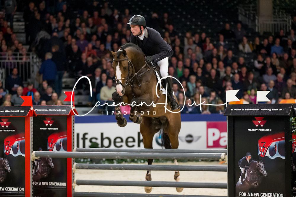 Been Remco, (NED), Freeman VDL<br /> Springen Klasse M<br /> KWPN Hengstenkeuring - 's Hertogenbosch 2016<br /> © Hippo Foto - Dirk Caremans<br /> 04/02/16