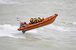 © Hugo Michiels Photography. 01/10/2017. Brighton, UK. Brighton RNLI practicing at sea. Photo credit: Hugo Michiels