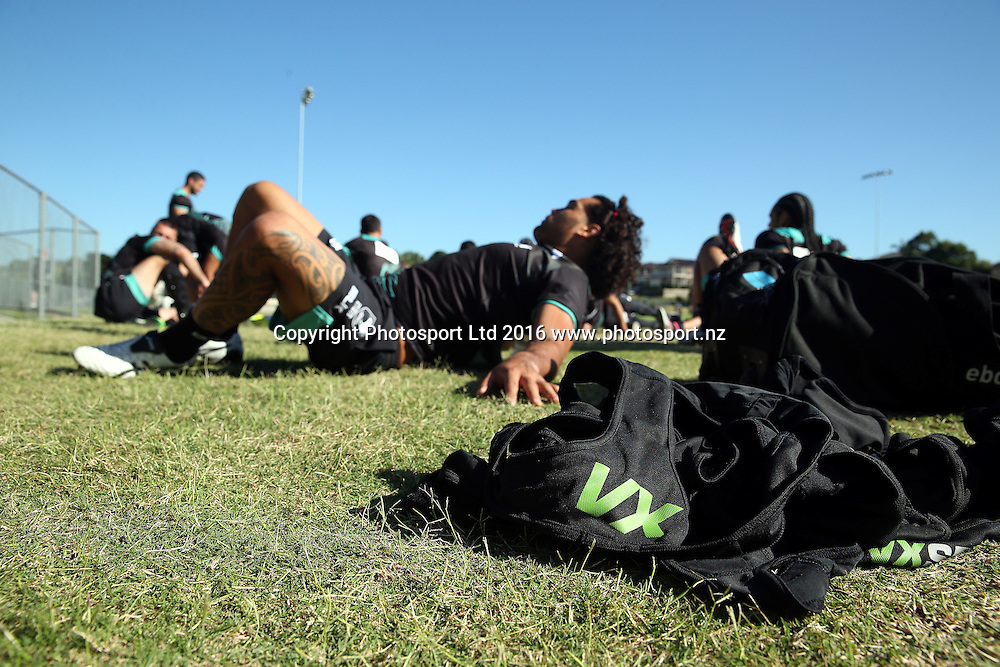 VX Sports Gear<br /> NZRL Training for the test match at Old Saleyards Reserve, North Parramatta Australia. Tuesday 3 May 2016. Photo: Paul Seiser/Photosport.nz